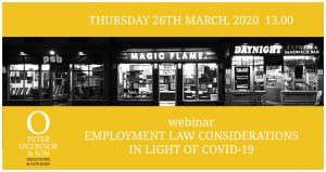 Employment Law considerations in light of Coivd-19