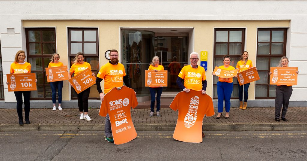 Peter O'Connor and Son Solicitors team in Solas Cancer Support Centre attire